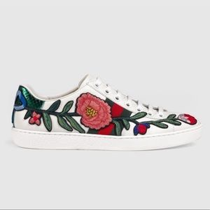 Gucci Shoes   Gucci Ace Embroidery Rose
